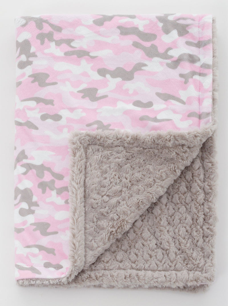 Pink Camo Blankets
