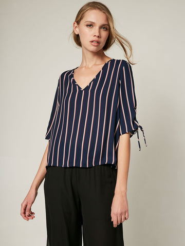 Natalie Tie Neck Button Up