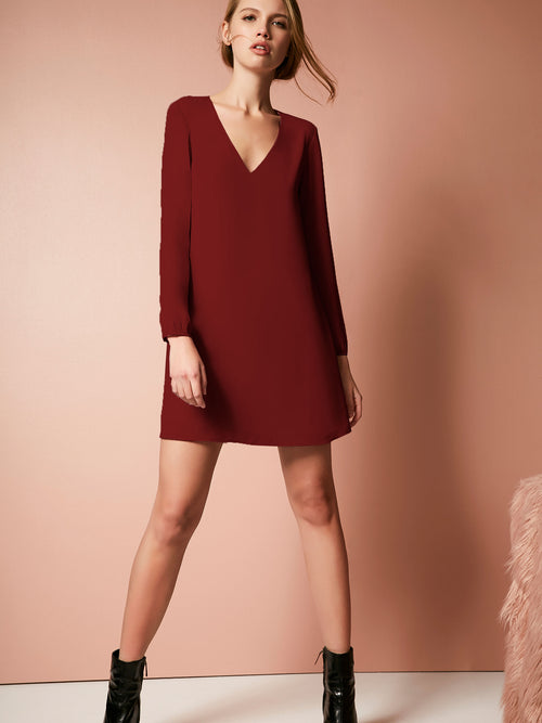 Kate V Neck Mini Dress