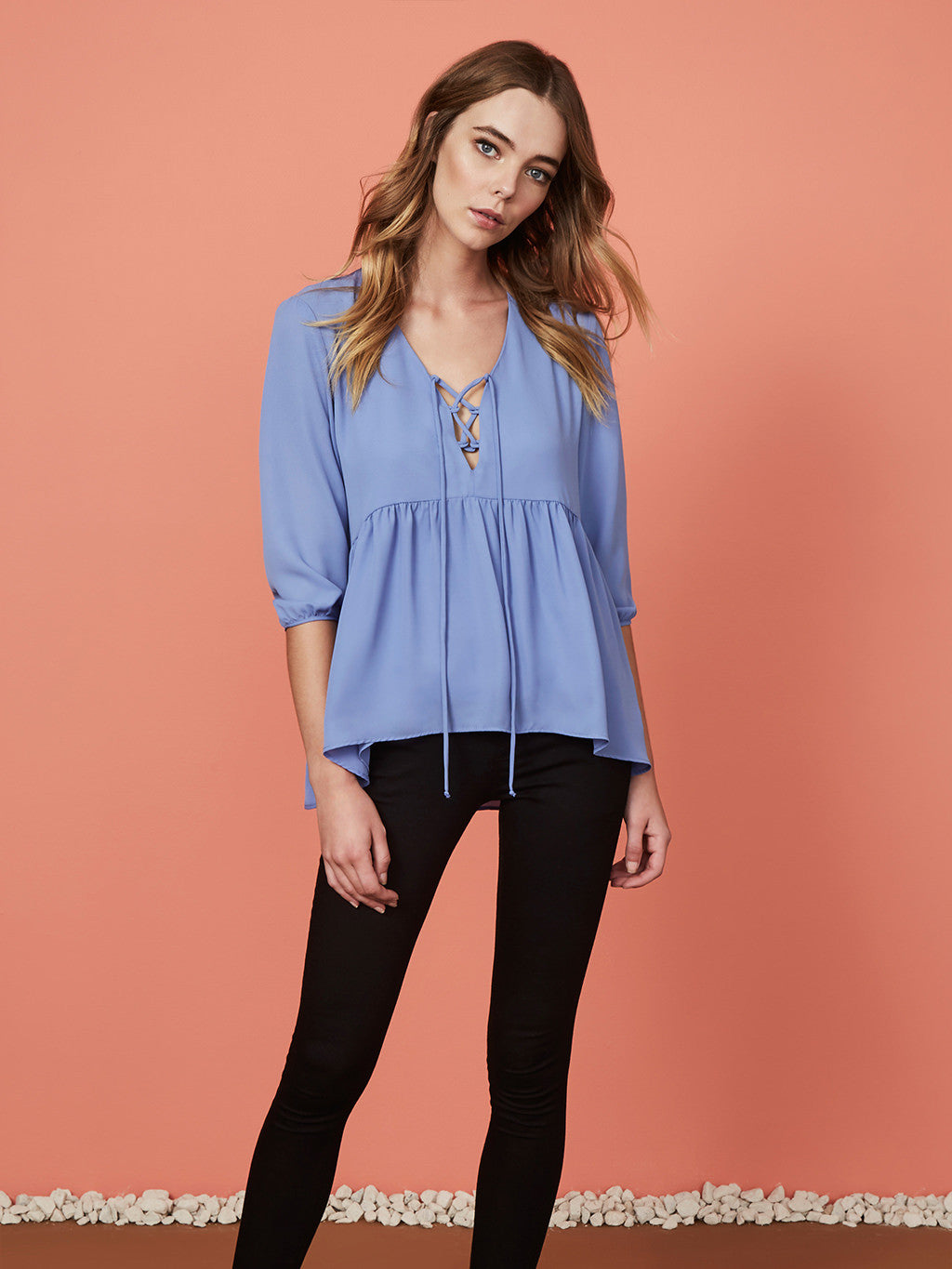 Three-Eighty-Two Bella Peasant Blouse
