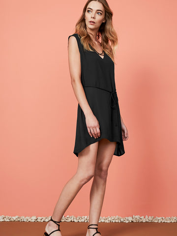 Quinn Ruffle Tee Mini Dress
