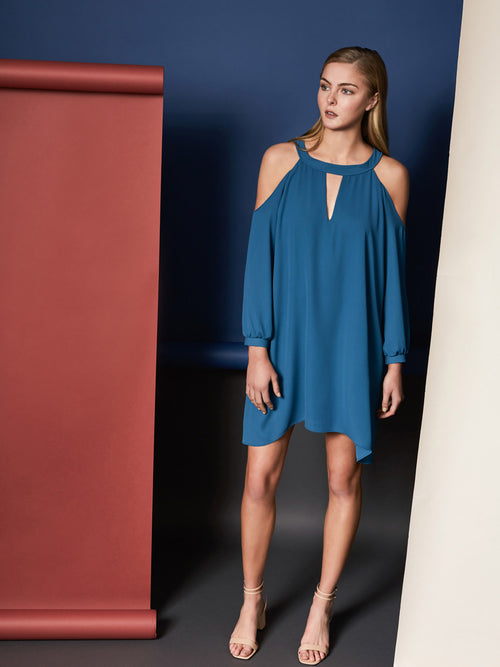 Riley Cold Shoulder Mini Dress