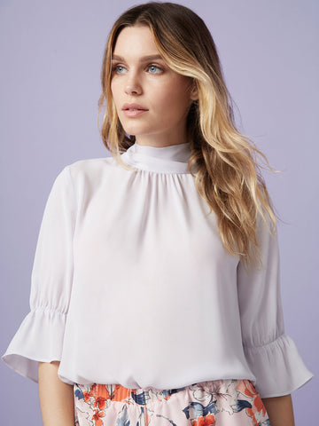 Kaila Ruffle Button Up