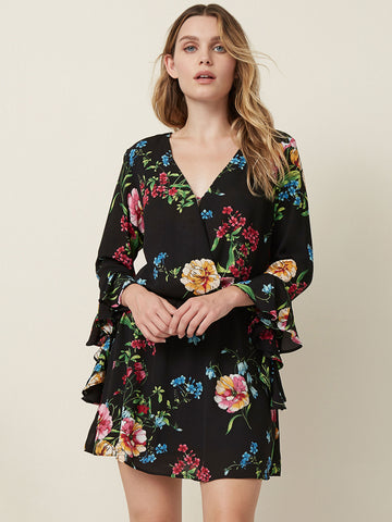 Delia Ruffle Sleeve Off Shoulder Mini