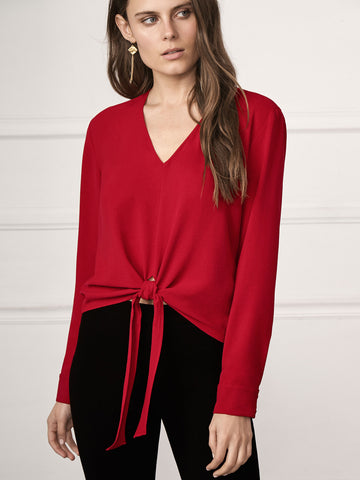 Naomi Ruffle Sleeve Button Front
