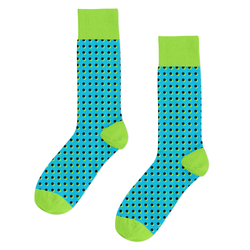 Qlassic Socks - Blue/Green Dots