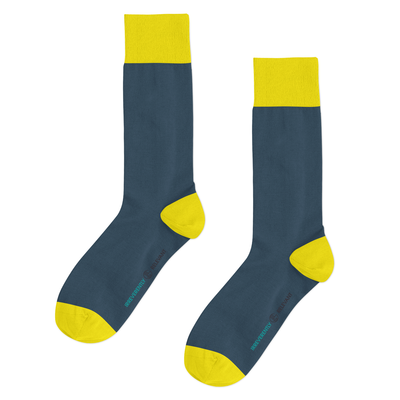 Qlassic Socks - Blue/Yellow Solids