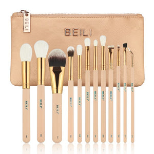 BEILI 12-Piece Premium Synthetic and Goat Hair Makeup Brush Set