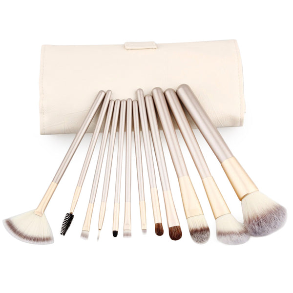 Professional Synthetic Hair Cosmetic Makeup Brush 12 Piece Set.