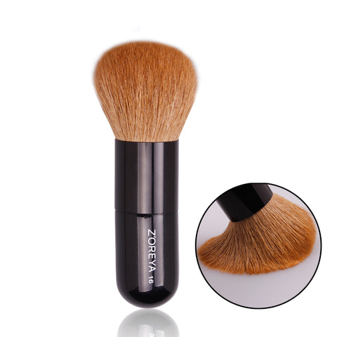 ZOREYA Natural Goat Hair Loose Powder And Liquid Foundation Makeup Brush