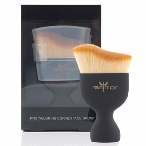 S-Shape Contour Foundation Makeup Brush with Lid