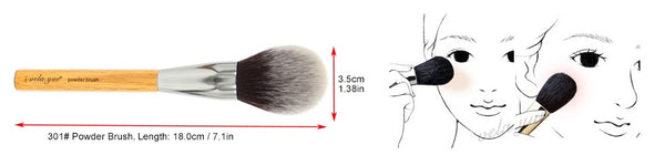 Vela.yue Large Synthetic Fibre Hair Powder Makeup Brush