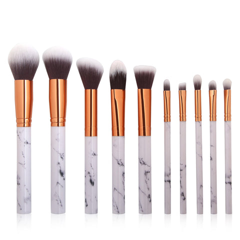 Marble Texture Multipurpose Makeup Brushes Set For Powder, Foundation, Eyeshadow, Concealer And More
