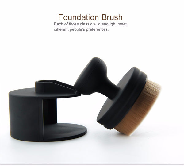 Professional Round Foundation Brush Unique Design Synthetic Hair Makeup Brush