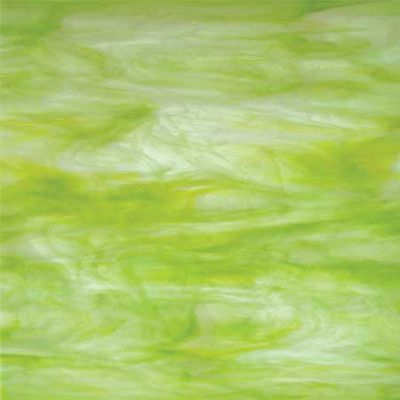 Key Lime (Yellow-Green/Clear/White) Glass