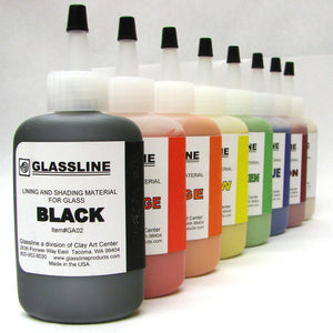 Glassline Paint Pen - Carbon Blue 60ml