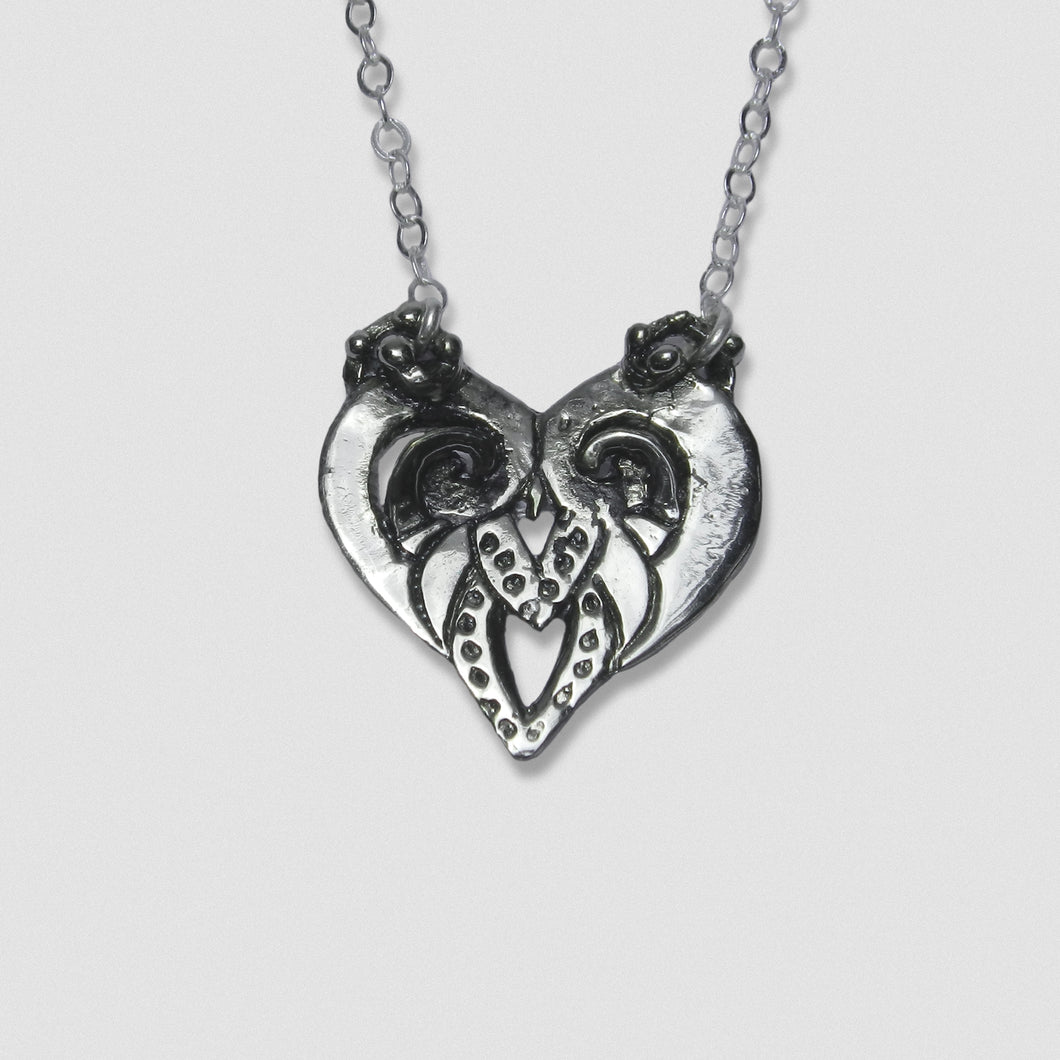 Goddess Embodied Pendant - White Bronze with Sterling Silver chain