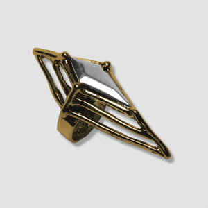 Argyle Ring - Gold plate bronze with Sterling Silver stone