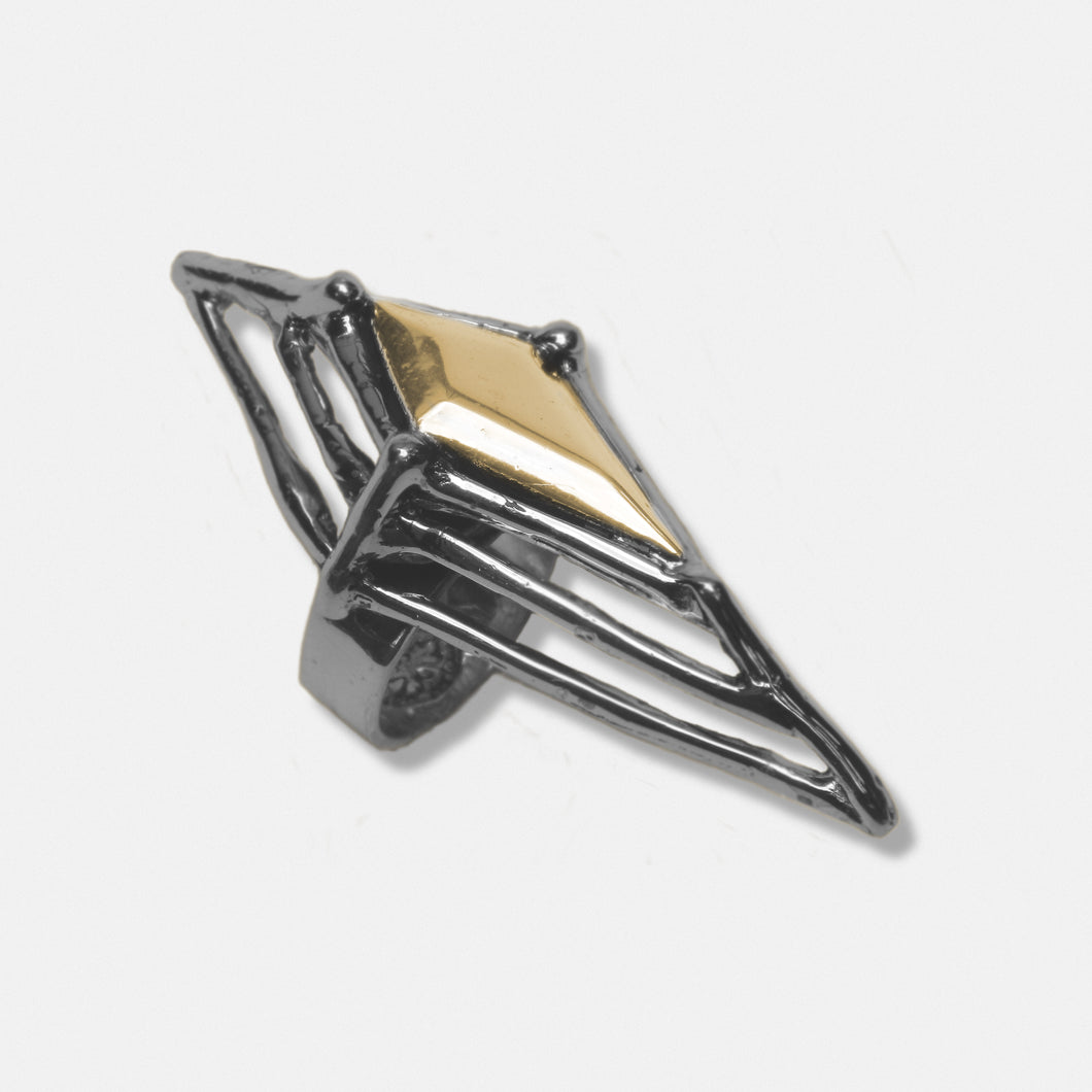 Argyle ring - Sterling Silver with Bronze stone