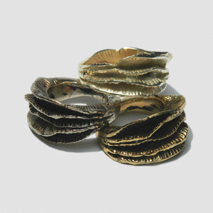 MoonWave Ring - Bronze