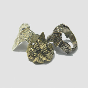 Angel Claw Ring - Silver Plate White Bronze.