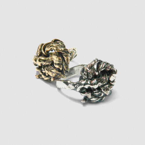 Ivy Knot Ring - White Bronze