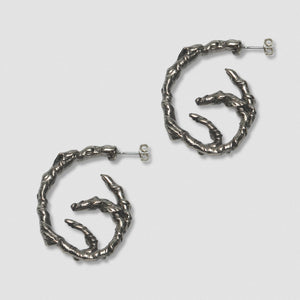 Coiled Ivy Earrings - White Bronze Sterling Silver Post