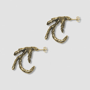 Ivy Claw Earrings -  Bronze with Sterling Silver post