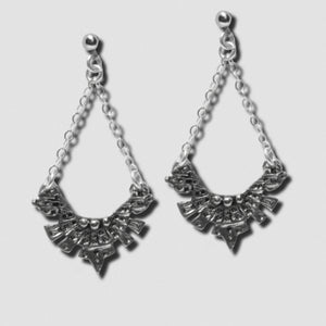 Maya Earrings - White Bronze