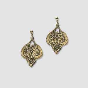 Ram Earrings - Bronze