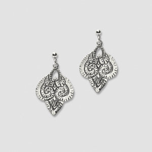 Ram earrings - White Bronze