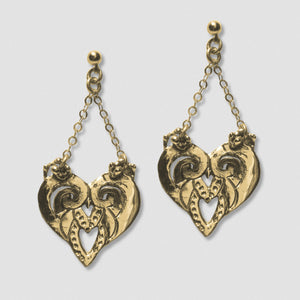 Goddess Embodies Earrings - Bronze