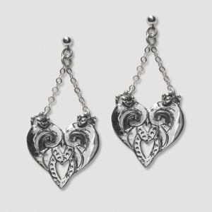 Goddess Embodies Earrings - White Bronze