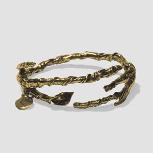 Single Ivy Bangle - Bronze