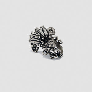 Large Penacho ring - White Bronze