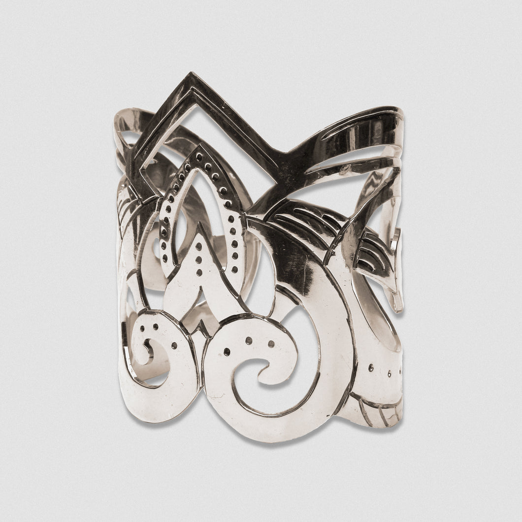 Goddess Embodied Cuff - German Silver
