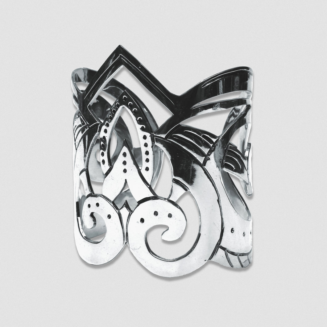 Goddess Embodied Cuff - Silver plate German Silver