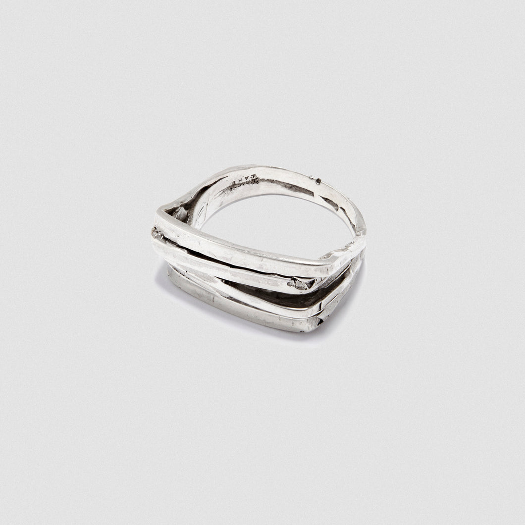 Wide Staple ring - Sterling Silver