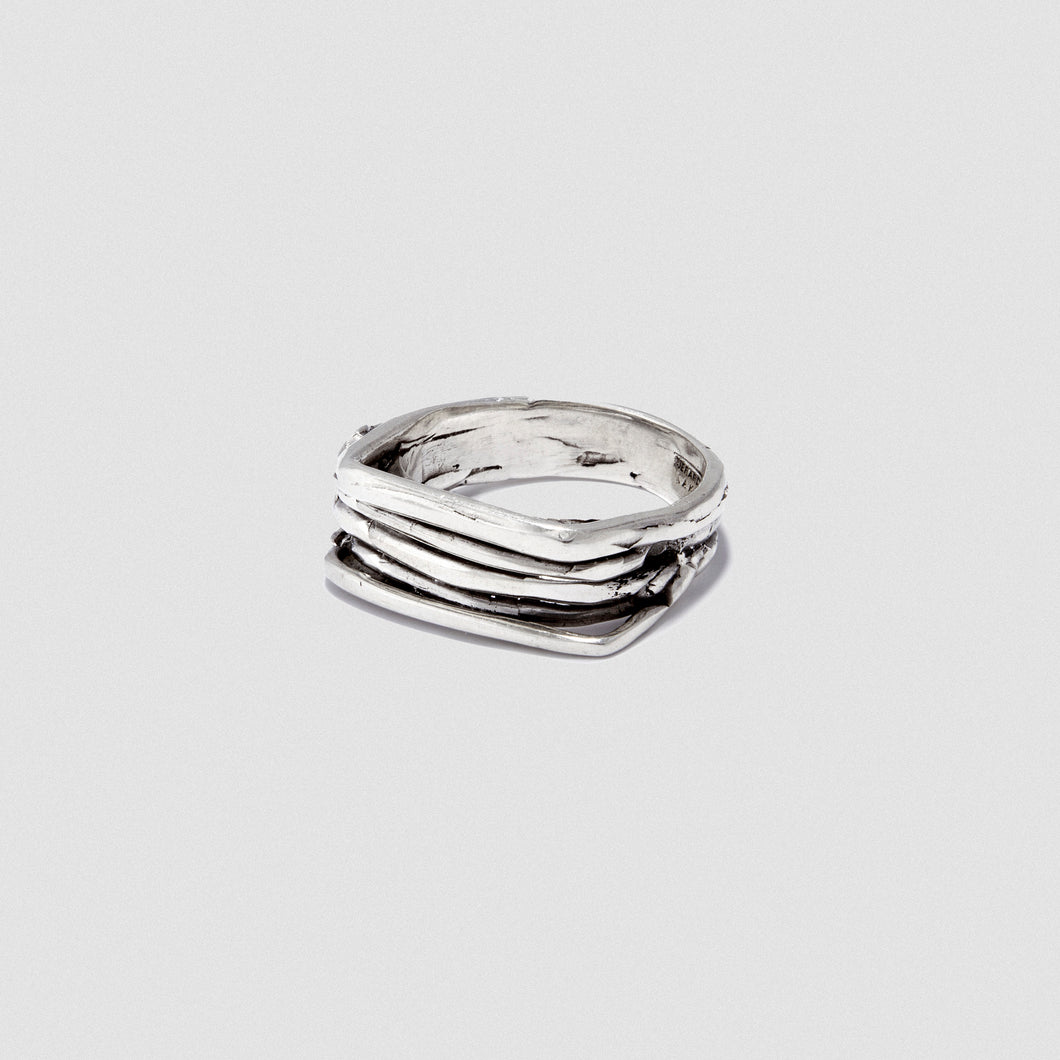Thin Staple ring - Sterling Silver