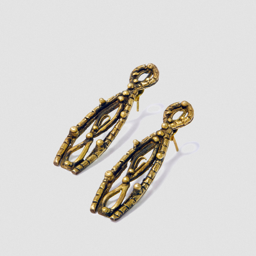 Goddess Empire earrings - Bronze