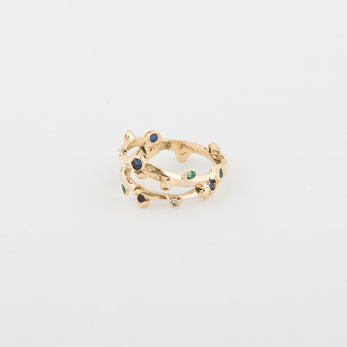 Sixteen Candles ring - 14k Gold