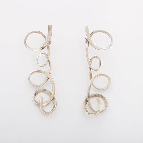 Loops earrings - White Bronze
