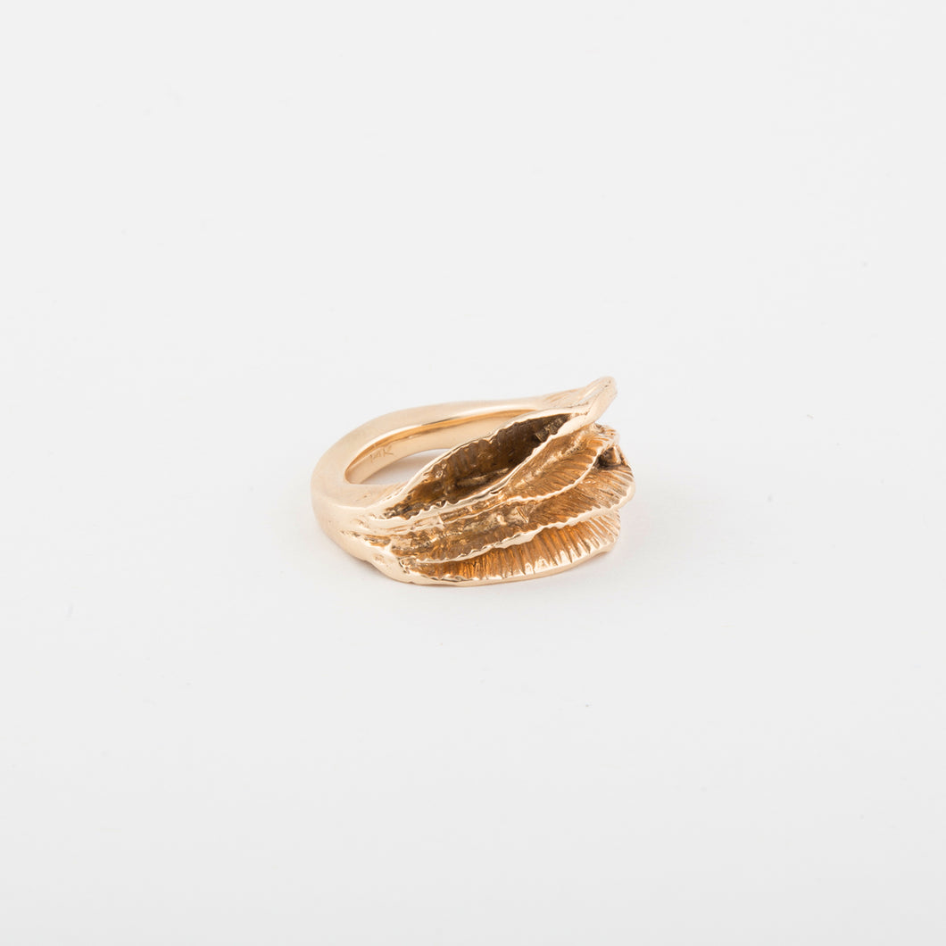 MoonWave ring - 14k Gold