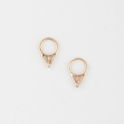 Triangle piercing - 14k Gold