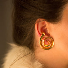 Spiral earcuff earrings - Gold Plate Bronze