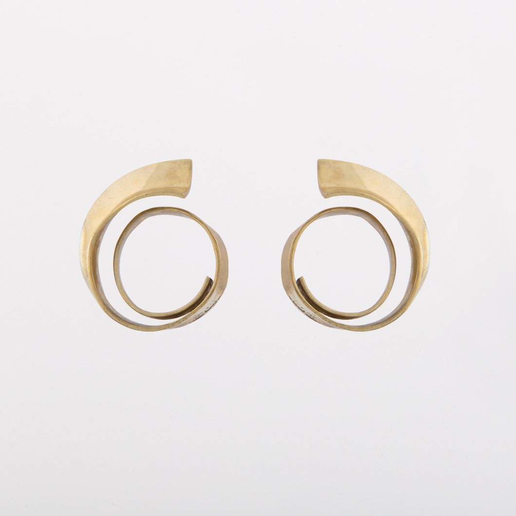 Wave earrings - Gold Plate Bronze