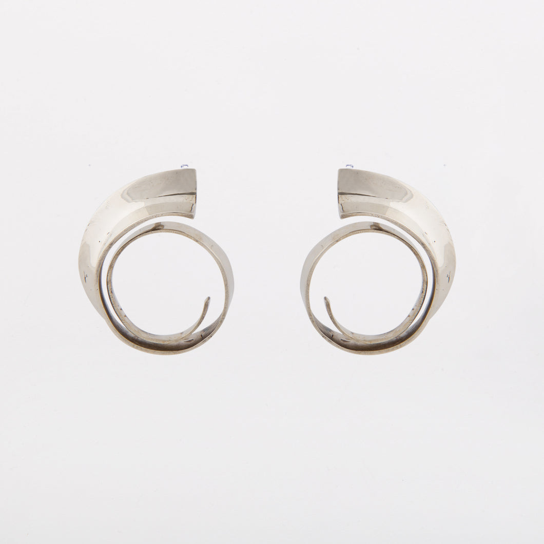 Wave earrings - White Bronze