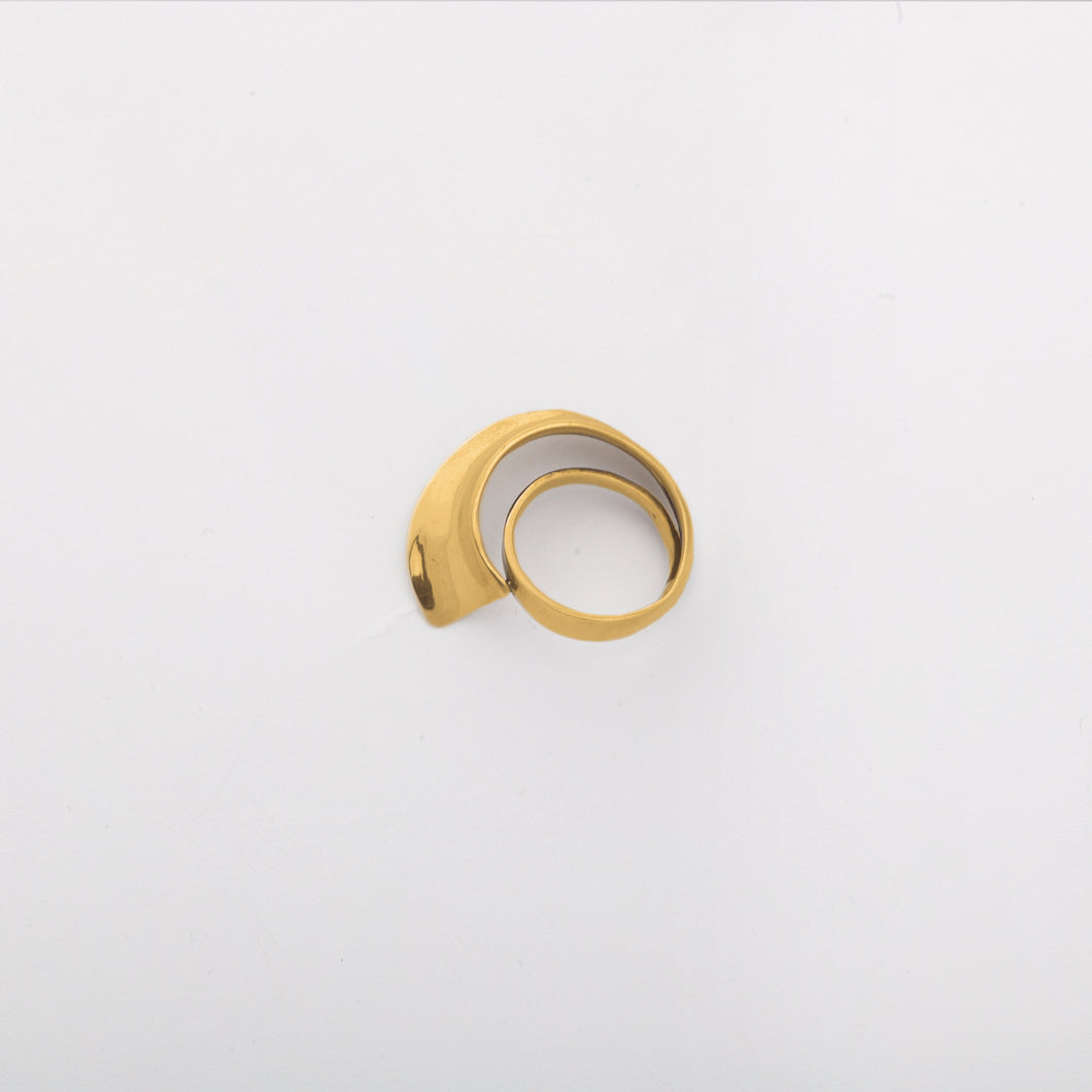 Wave ring - Gold Plate Bronze