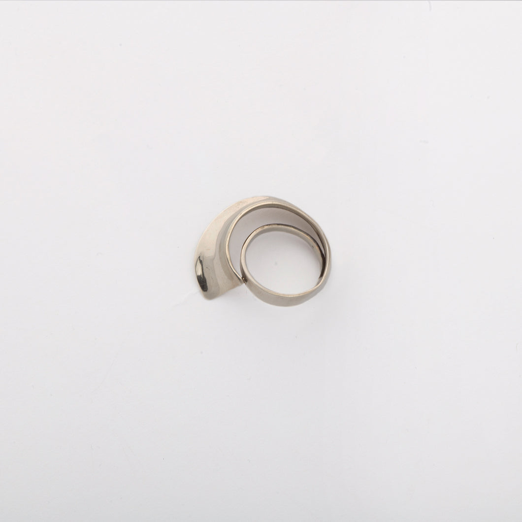 Wave ring - White Bronze