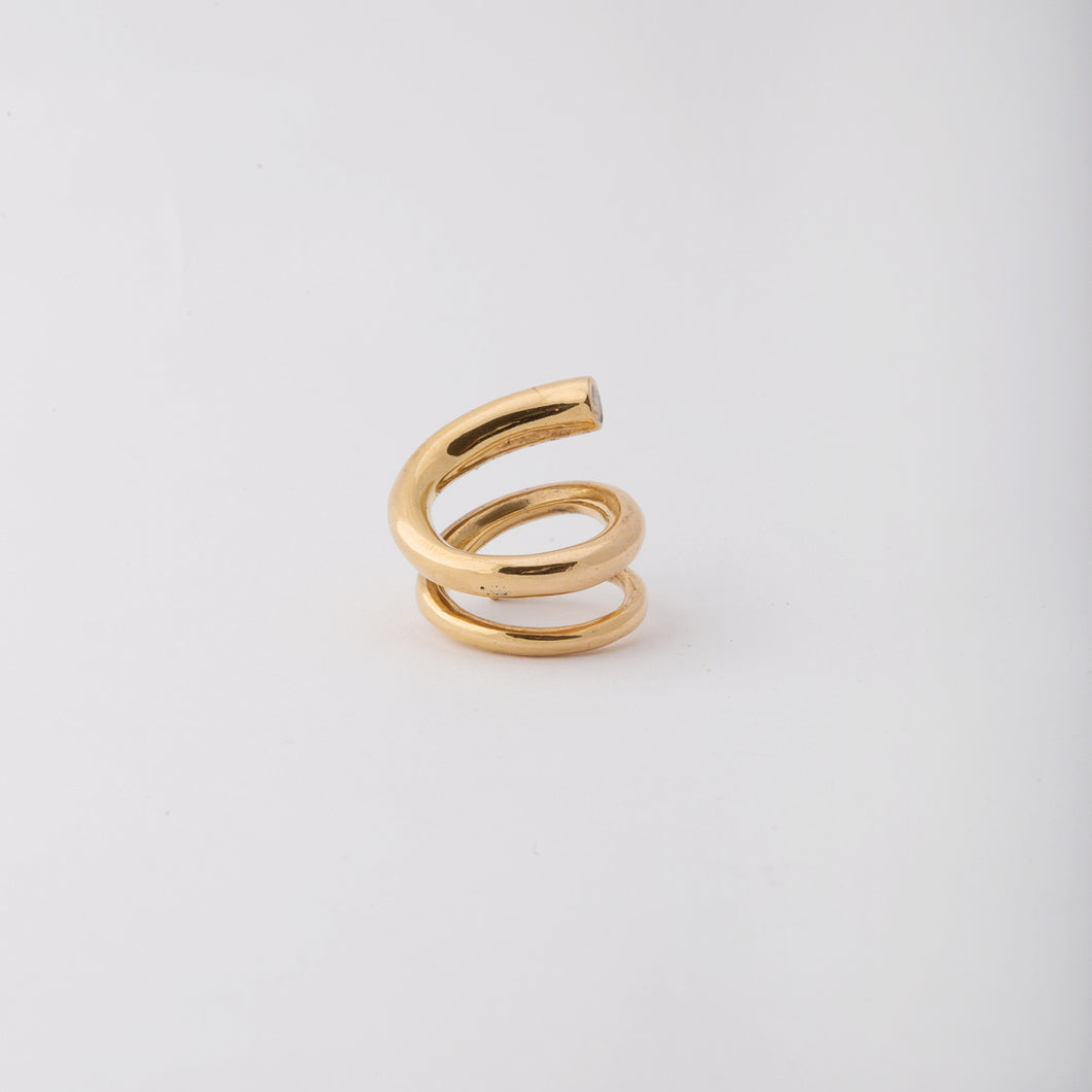 Wrapped-around my finger ring - Bronze